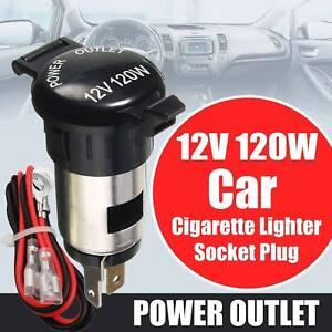 For Motorbike Boat 12V 120W Waterproof Power Car Cigarette Lighter Socket Plug