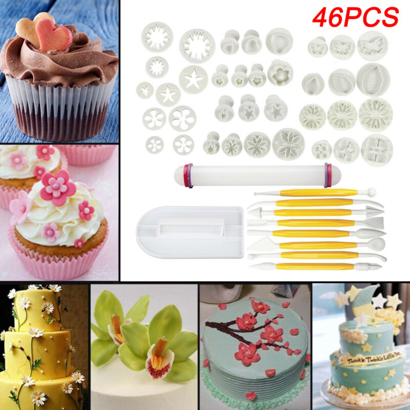 68 pcs Sugarcraft Gâteau Cookies Fondant Piston Decorating Cutters Outils Mold