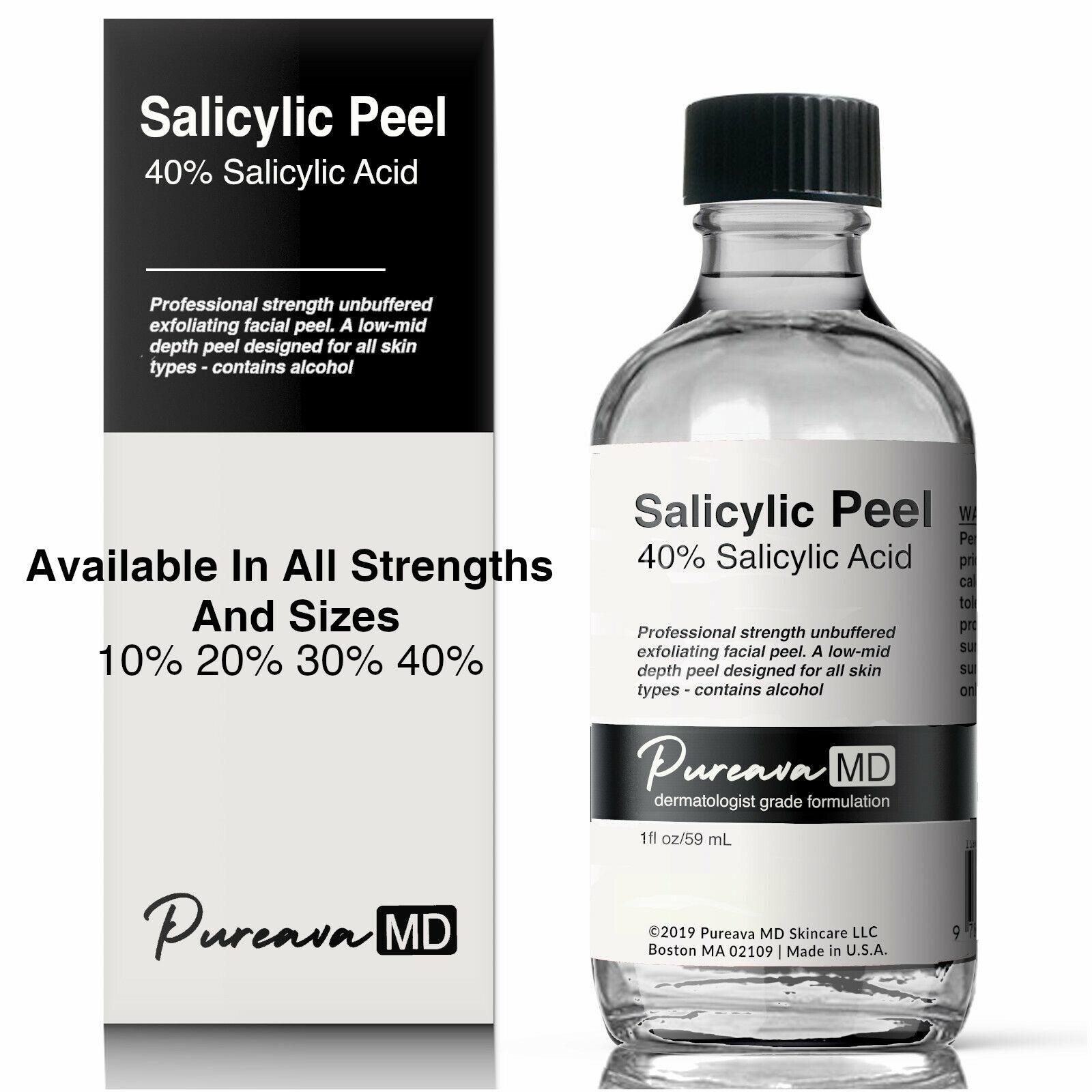 SALICYLIC ACID Skin Chemical Peel -Acne Wrinkles Dull Clogge