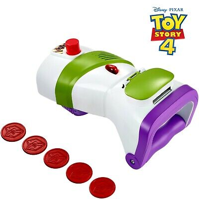 Disney Pixar Toy Story 4 Buzz Lightyear Rapid Disc Blaster NEW free shipping