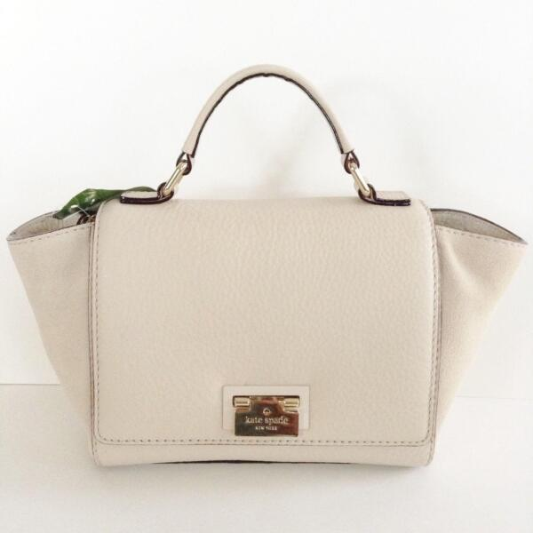 KATE SPADE NEW YORK (LARGE) LAUREL MAGNOLIA PARK SUEDE CROSSBODY SATCHEL