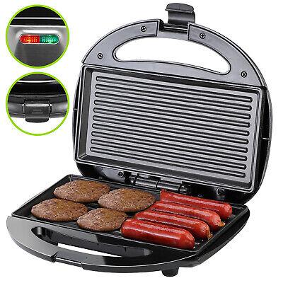 Sandwichera parrilla eléctrica negra revestimiento antiadherente plancha grill