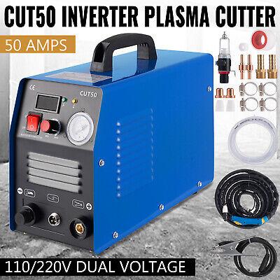 50a Cut-50 Inverter Digital Air Plasma Cutter Machine 110220v Fit All Cut Torch