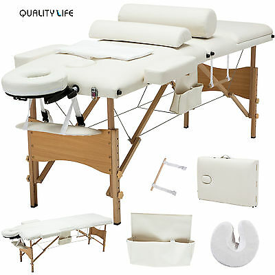 "84""l 3 Fold Portable Facial Spa Bed Massage Table Sheet+2..."