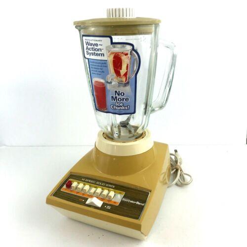 VTG Sears Insta Blend 14 Speed Harvest Gold 1970s Blender 400-829303 Works! NOS