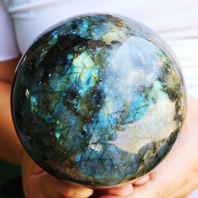 Rock Sphere - 4.7LB Natural labradorite sphere rock quartz crystal ball healing