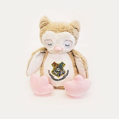 Harry Potter Hogwarts Large Embroidery Hogwarts Owl Teddy Bear Pyjama Carry Case