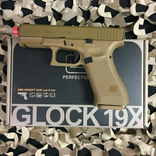New Umarex Glock G19X Gas Blowback Airsoft Pistol - Coyote Tan (2276328)