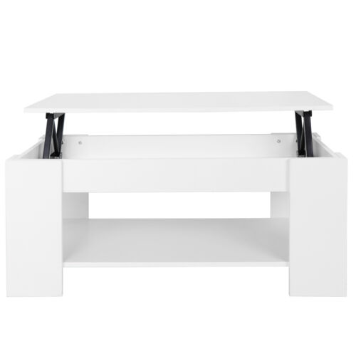 Coffee Table For Living Room Large Lift Up Hard  Storage Shelf  Furniture White Furniture