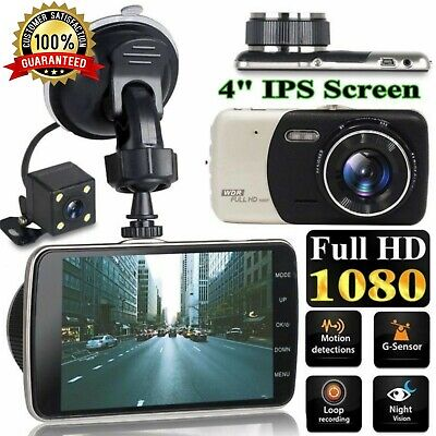 """2 Channel Dash Cam 1080P 4"""" HD Car Dual Camera Front and Rear Vehicle Recorder"""