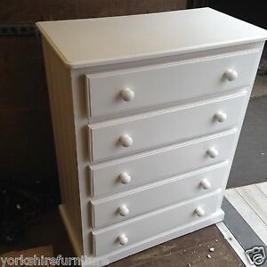 Solid Wood White Chest Of Drawers EBay