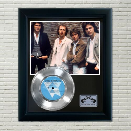 "Dire Straits ""Walk Of Life"" Framed 45 Silver Record Display"