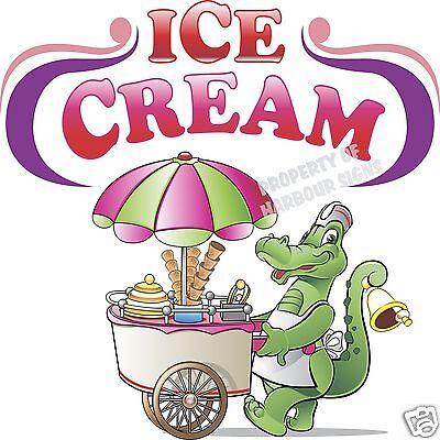 Ice Cream 14 Decal Gator Concession Restaurant Food Truck Vinyl Sticker