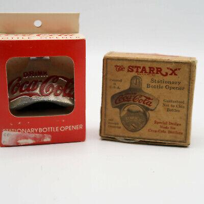 "2 Vintage Starr ""X"" wall Stationary Bottle Opener / Drink Coca Cola Memorabilia"