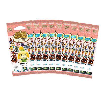 10x Amiibo Karten 3 Stück Animal Crossing Happy Home Designer Vol. 4 Neu & OVP - 3 Stück Designer