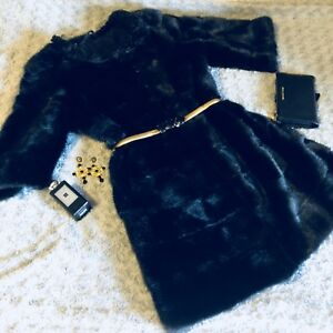 Mink fur coat Chanel style
