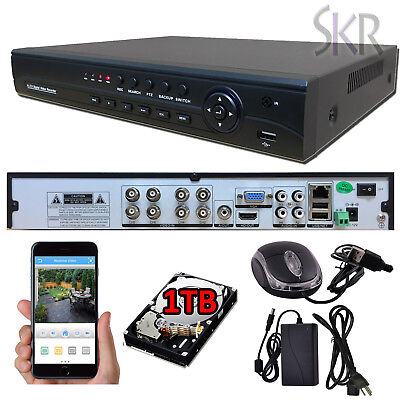 Sikker 8Ch Channel standalone Video Security DVR Camera Recorder System HDMI 1TB