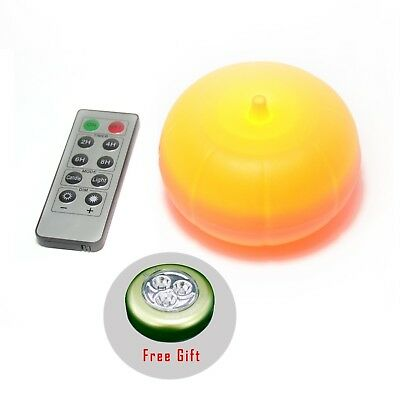 Battery Operated LED Pumpkin Light with Remote Halloween Decorations Orange
