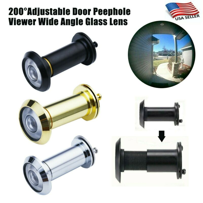 200° Adjustable Doors Peephole Wide Angle Eye Spy Durable Hole Glass Len Viewers