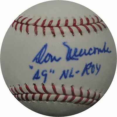 Don Newcombe Autographed MLB Baseball Dodgers 1