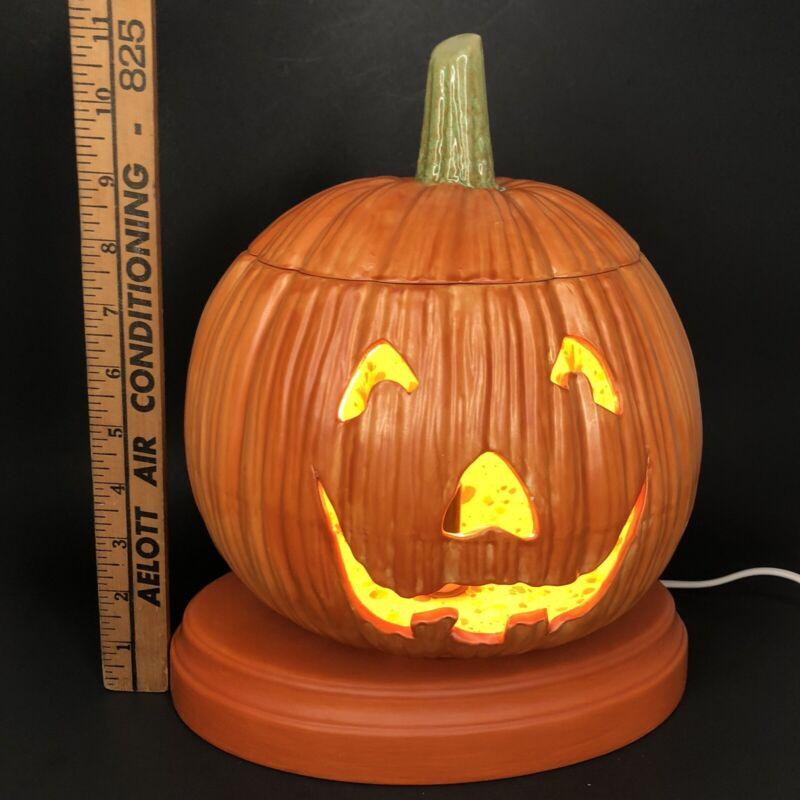Vintage 1970's Ceramic Jack-O-Lantern Halloween Pumpkin Holland Molds