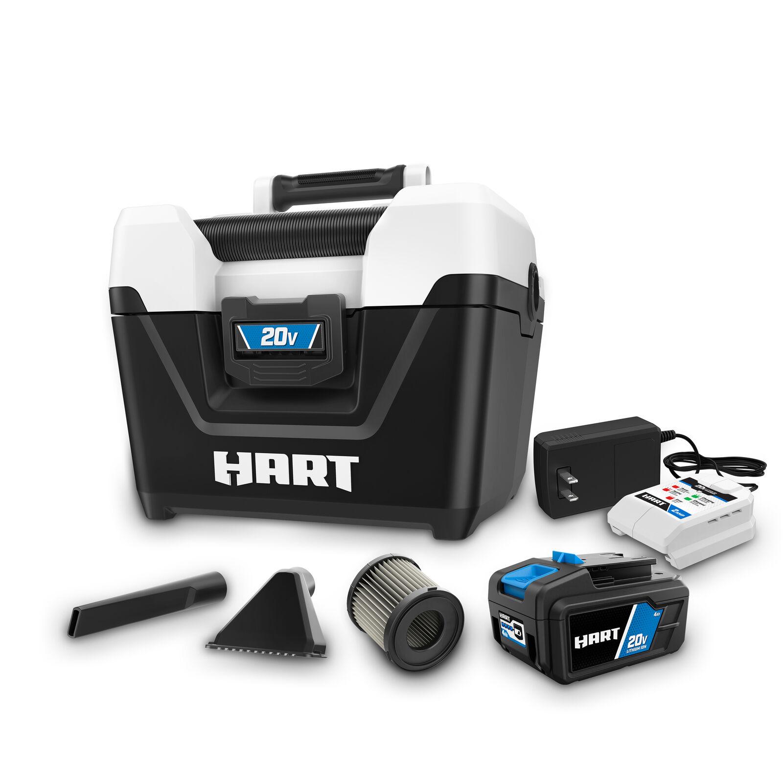 HART 20-Volt Cordless 2-Gallon Wet/Dry Vacuum Kit  20-Volt 4