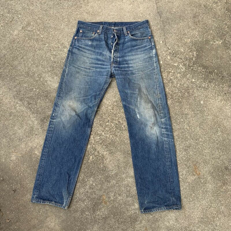 Vintage Levis 501 Made In USA Amazing Wear Measures 34x32 No Redline
