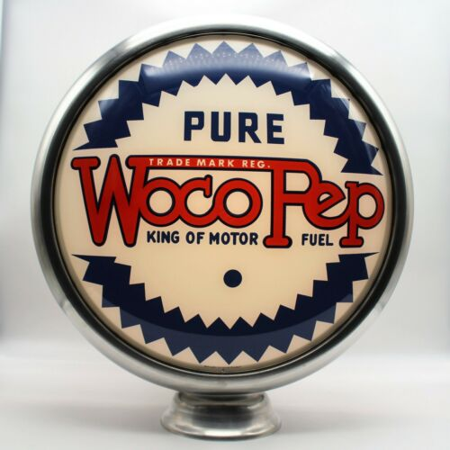 """15"""" PURE WocoPep Gas Pump Globe Lens (1) NOT THE FULL GLOBE - 1 LENS/ FACE ONLY"""