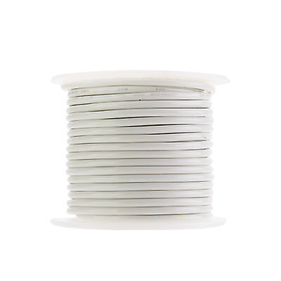 14 Awg Gauge Solid Thhn Wire White 50 Ft 0.102 600 Volts Building Wire