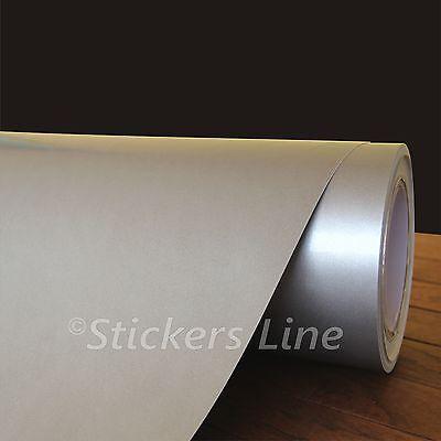 Pellicola GRIGIO ARGENTO METALLIZZATO cm 50x150 adesivo CAST silver alluminio usato  Pineto