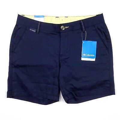 - Columbia Womens Navy Blue Cotton Harborside PFG Shorts 6