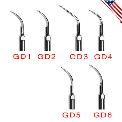 5pcs Dental Ultrasonic Piezo Scaler Scaling Tips For Dte Satelec Gd1-gd6 Tip Usa