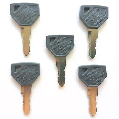5 Yanmar And John Deere Tractor Ignition Keys 198360-52160