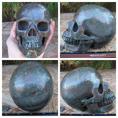 "Huge 5.17"" Garnet in Matrix Skull 4.2lbs 1925g Crystal Realistic Massive Big"