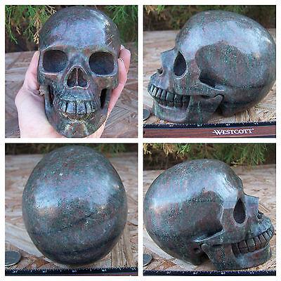 """Huge 5.17"""" 4.2 Pounds 1925g Garnet in Matrix Skull Crystal Realistic Massive Big"""