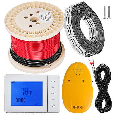 25-55sqft Electric Tile Radiant Warm Floor Heated Kit Bathroom Flexible Safe