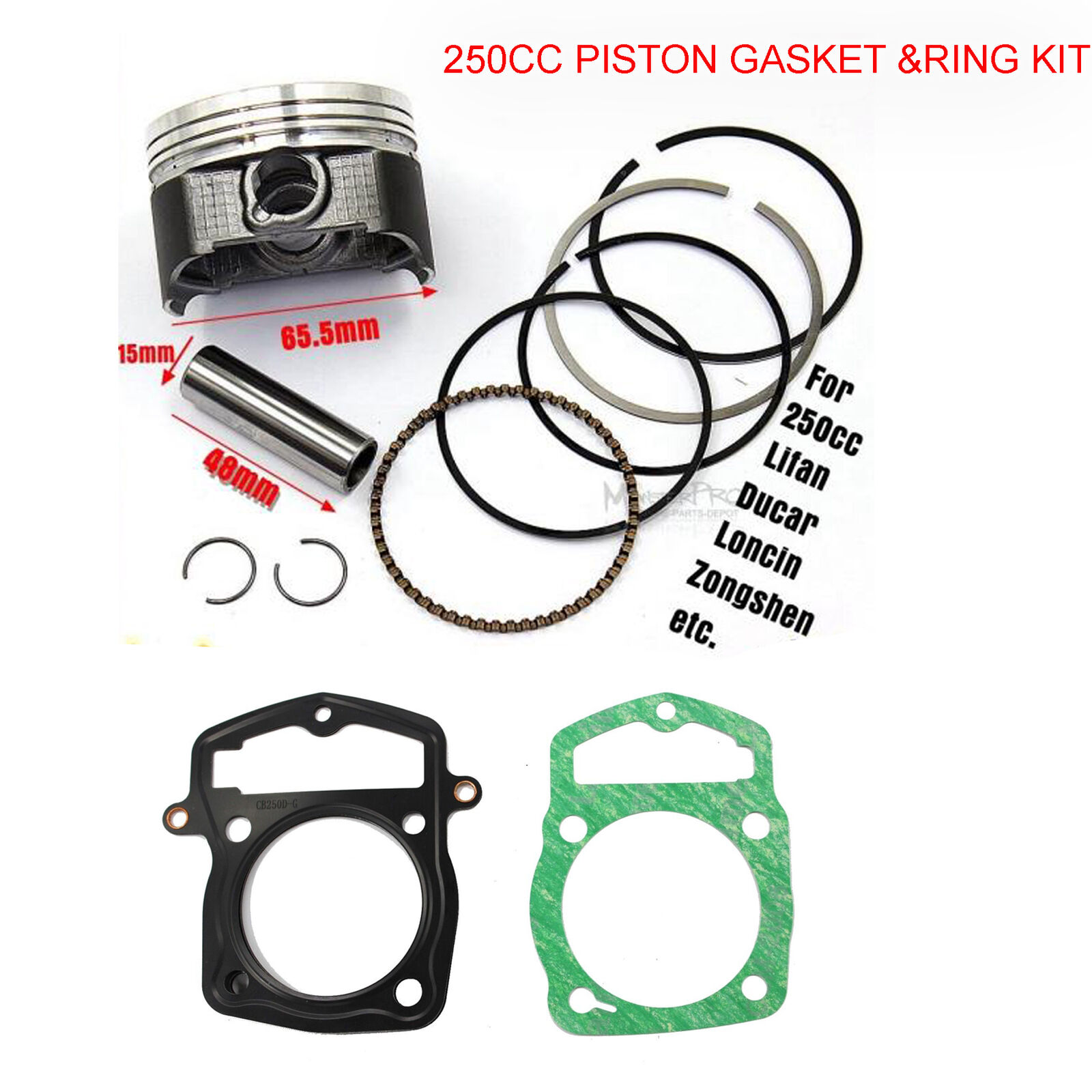 250CC PISTON KIT SET RINGS 65 5mm For Atomik Thumpstar DIRT