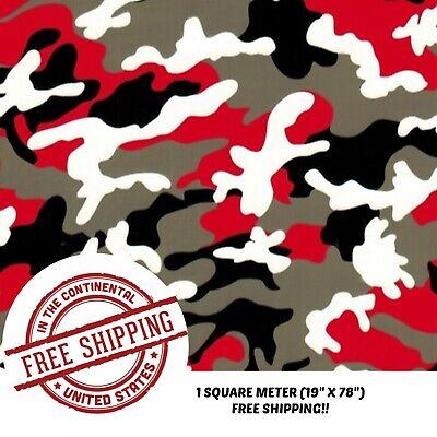 Hydrographic Film Water Transfer Film Hydro Dipping Dip Red Black Camo 19x78