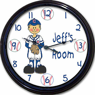 Chicago Cubs Wrigley Field Ernie Banks Baseball Personalized Wall Clock Custom