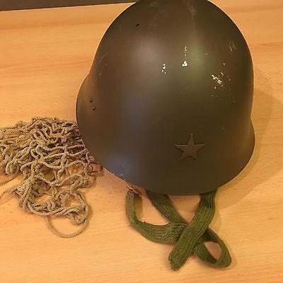 WW2 Japanese Helmet - Camo Net, Liner, Chinstrap