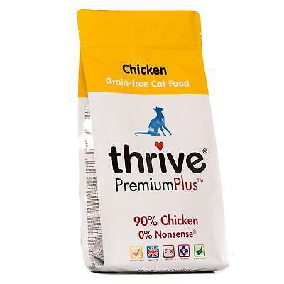 Thrive Premium Plus Chicken Dry Adult Cat Food Bag, Natural & Grain-Free - 1.5kg