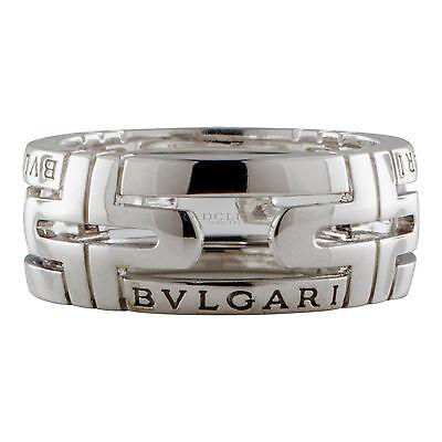 Bvlgari Parentesi Ring, 18 Karat white Gold, Size 52 / 6.25
