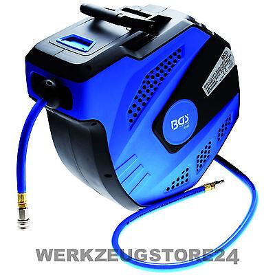 BGS Druckluftschlauch mit automatischem Aufroller 15 m - 3253 - Drucklufttrommel