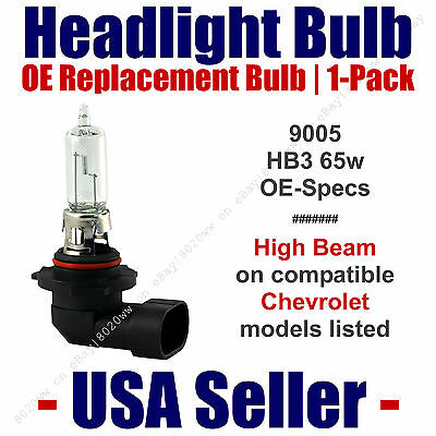 Headlight Bulb High Beam Replacement - Fits Listed Chevy/Chevrolet Models 9005