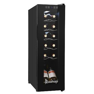 12 Bottle Compressor Wine Cooler Refrigerator LED Digital Temperature Control US