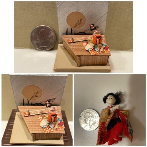 Very Vintage Miniature Geisha scene / Geisha Mini Doll / Wonderful Detail / NICE