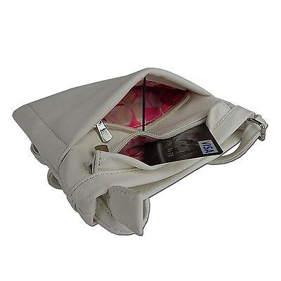 Damen Tasche Umhängetasche Kleine Schultertasche Beutel Freizeit-shopper Weiß 5