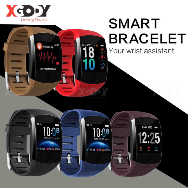 XGODY Smart Watch Heart Rate Blood Pressure Monitor Exercise