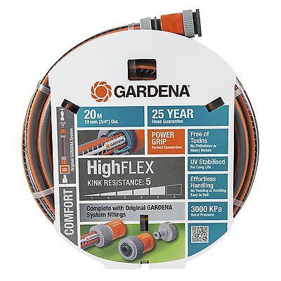 GARDENA HighFLEX FITTED GARDEN HOSE 19mmx20m Double Spiral Mesh *German Brand
