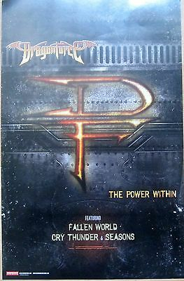 DragonForce - THE POWER WITHIN Promo Poster [2012] - VG++